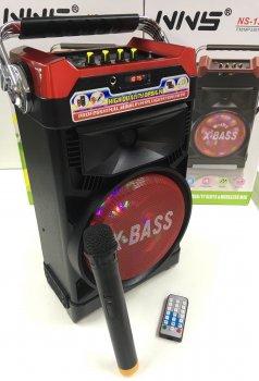 Колонка караоке Комбік Bluetooth MP3 FM Радіомікрофон Пульт ДУ Акустична система NNS 1388BT