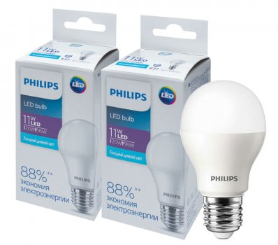 Світлодіодна лампа Philips Ecohome LED Bulb 11 W E27 6500 K 1PF/20RCA (929002299867R) 2 шт.