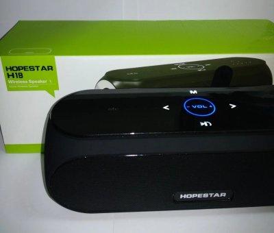 Портативна Колонка H19 Hopestar Bluetooth 2 динаміка Black з вологозахистом з FM приймачем (Bluetooth, MP3, AUX, Mic, FM)