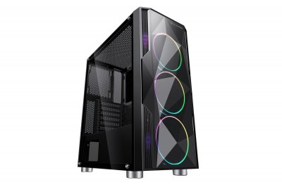 Корпус 2E Gaming ARDOR (GA3401) MidT,2*USB2.0,1*USB3.0, 4*120ARGB,стекло (бок.пан.),без БП,черн.