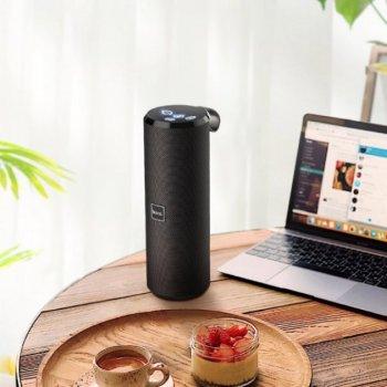 Портативна акустична вологозахищена система з 360° звучанням Bluetooth колонка Hoco BS33 Voice Sports. Чорна