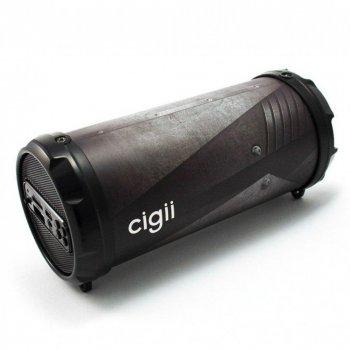 Портативна акустична переносна Bluetooth колонка Cigii S41 з FM-радіо. Чорна