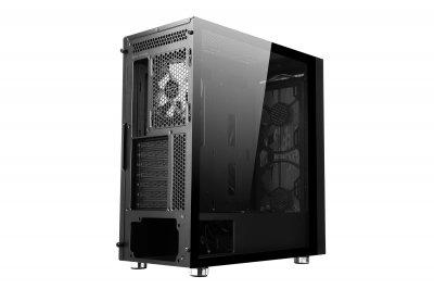 Корпус 2E Gaming CONTEGO (GW02) MidT,EATX,2*USB2.0, 2*USB3.0,2*200,2*120ARGB,стекло,без БП,черн.