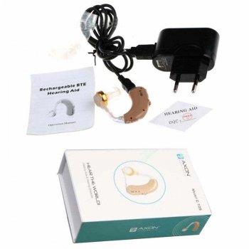 Завушний слуховий апарат AXON C-109 підсилювач слуху з зарядкою і акумулятором