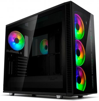 Корпус Fractal Design Define S2 Blackout з загартованим склом Black (FD-CA-DEF-S2V-RGB-BKO-TGD)