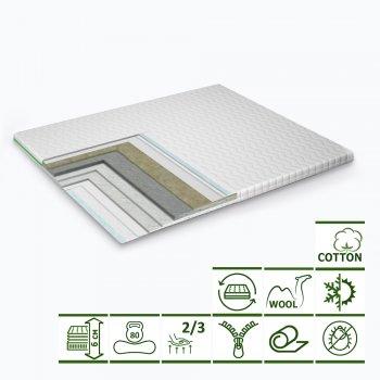 Тонкий матрас-топпер Green Streem Cotton Extra 160х200 см (02022020-18-17) (2020181602006)