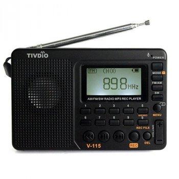 Радіоприймач TIVDIO V-115 MP3-SD, цифрофой тюнер DSP