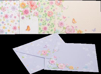 Заготівля для листівок ZiBi з кольоровими конвертами Charm 105 х 148 см (ZB.18223-AD)