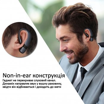 Bluetooth-гарнитура Promate Static Non-in-Ear Black (static.black)