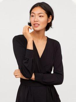 Блузка H&M 7114408 Черная