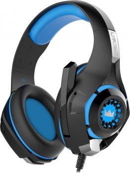 Навушники Crown CMGH-102T USB Blue