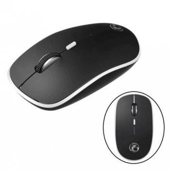 Безпровідна мишка тиха плоска миша безшумна 1600dpi iMice G-1600, чорна