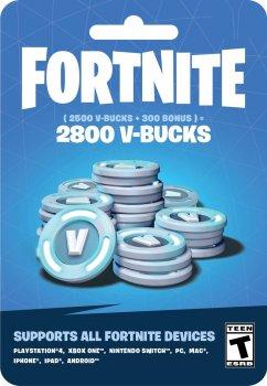 Fortnite: 2800 В-баксів (2500 + 300 V-BUCKS) | Nintendo Switch