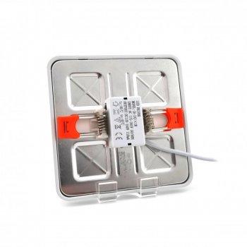 Панель LED універсальна (рухомі кліпси) LUSQ-UNI-6W 4000K квадрат(100*100) біла