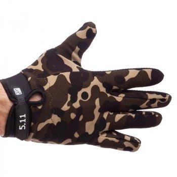 Перчатки тактические с закрытыми пальцами 5.11 BC-0527 (р-р XL , камуфляж) /2
