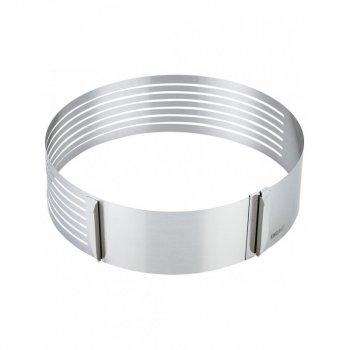 Форма регульована для тортів з нержавіючої сталі, кругла KingHoff KH-1474 24х30 см
