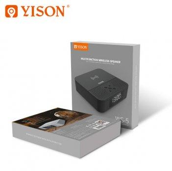 Портативна акустична система YISON WS-5 Bluetooth з бездротовою зарядкою Black