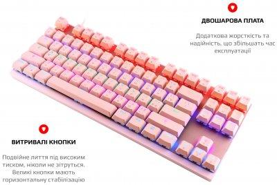 Клавіатура дротова Motospeed K82 Outemu Blue USB Pink (mtk82pmb)