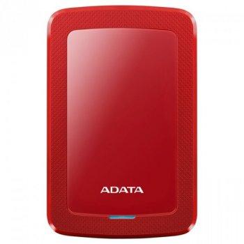 """Жорстку зовнішній диск A-DATA USB 3.2 Gen1 HV300 1TB 2,5"""" Червоній (AHV300-1TU31-CRD)"""