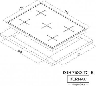 Варильна поверхня газова KERNAU KGH 7533 TCI B