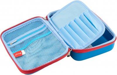 Пенал-сумка с тиснением Cool For School на замке 1 отделение Голубая (QT-5687-Blue)