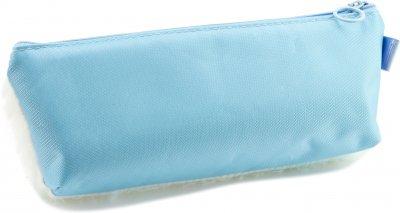 Пенал пушистый с аппликацией Cool For School 1 отделение Голубой (6525-blue)