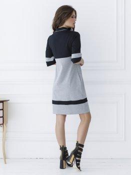Платье ISSA PLUS SA_11 Черное с серым