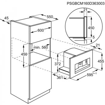 Кофеварка встраиваемая Electrolux - KBC 65 X