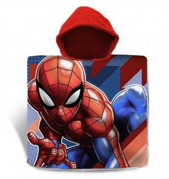 Дитячий рушник-пончо Euroswan Спайдермен Людина-павук 60х120 см з капюшоном для хлопчика 3-7 років