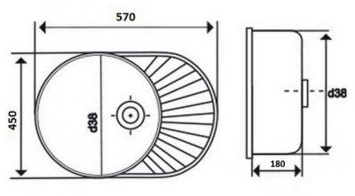 Кухонна мийка LIDZ 6044 Decor 0.6 мм (LIDZ604406DEC)