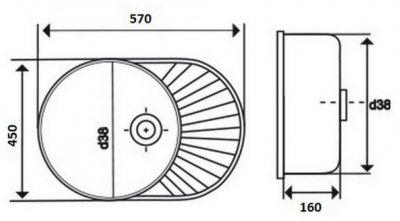 Кухонна мийка LIDZ 5745 Decor 0.6 мм (LIDZ574506DEC)