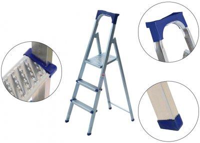 Лестница из 3 ступеней + лоток Kanat Elips EM-602 Blue/Silver
