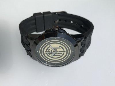 Часы мужские наручные футбольный клуб Интер (Inter), черные, круглые