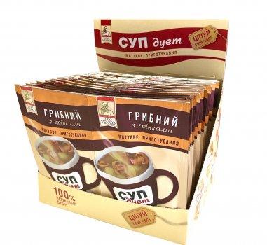 Суп дме Грибний з грінками ТМ LUGO VАNKO 2 в 1 по 20 г