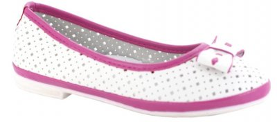 Балетки Ірина 30-29 для дівчаток біло-рожеві