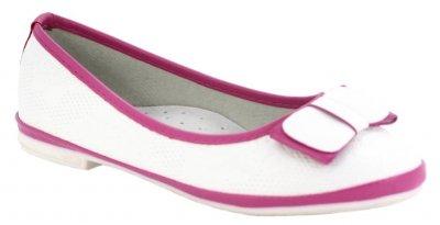 Балетки Ірина 6063 для дівчаток біло-рожеві