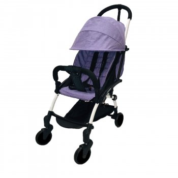 Коляска Yoya 175А+ Фиолетовая лен на белой раме