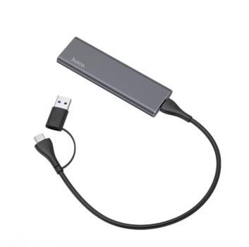 Зовнішній накопичувач SSD Type-C HOCO UD7 512GB Grey