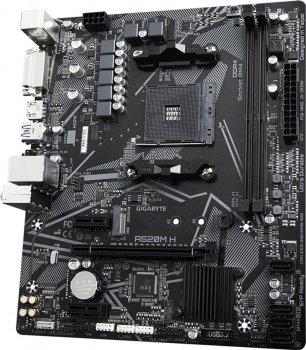 Материнская плата Gigabyte A520M H (sAM4, AMD A520, PCI-Ex16)