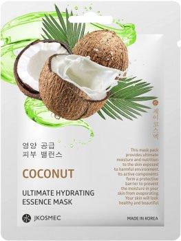 Ежедневная увлажняющая маска с экстрактом кокоса Jkosmec Coconut Ultimate Hydrating Essence Mask 25 мл (8809540518752)