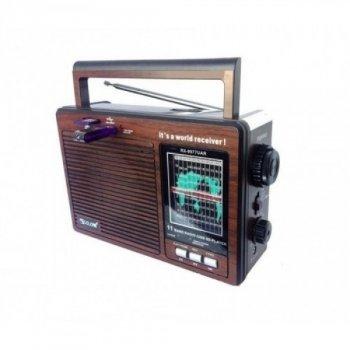 Мультидиапазонний радіоприймач GOLON RX-9977 UAR з USB входом mp3, портативний, акумуляторний