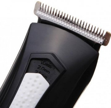 Набор для стрижки профессиональный Kemei LFQ-KM-3007 3 Вт беспроводная машинка для стрижки и триммер для бороды и усов 2 в 1 с титановыми ножами + 2 съёмных аккумулятора