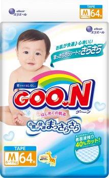 Підгузки GOO.N для дітей 6-11 кг розмір M на липучках унісекс 256 шт. (853075-4) (4500006493036)