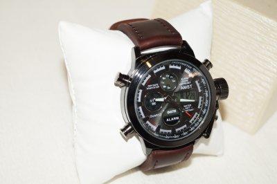 Часы наручные AMST AM3003-1 Brown-Black, кожаный ремешок