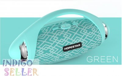 Потужна портативна вологозахищена bluetooth колонка Hopestar H37 з FM Stereo берюзовый