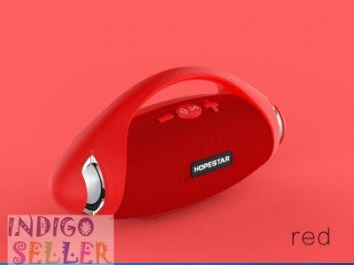 Мощная портативная влагозащищенная bluetooth колонка Hopestar H37 с FM Радио Stereo Red