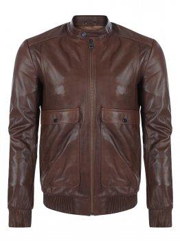 Кожаная куртка GIORGIO DI MARE Светло-коричневый (GI4405802)