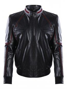 Кожаная куртка GIORGIO DI MARE Черный (GI3777764)
