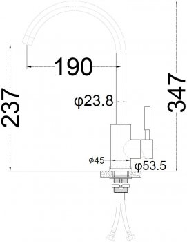 Кухонний змішувач SILVER Basis SLIN0486BL