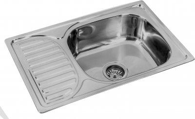 Кухонная мойка LEMAX 660х420х180 0.8 мм хром (LE-5011 CH)